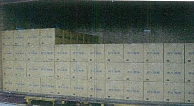 ケース製品も積替の必要がない為、お客様まで安心をもって納入することができます。(17kgのケースが280個可能)